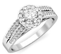 Details about  /Dani by Daniel K 3.75 CTW Round 5 Stone CZ Band Silver 14k Rose Plated Size 7