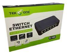 TeKone S-160 Switch 5 Porte Rj45 Lan Ethernet Cavo Di Rete 10/100 M hsb