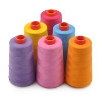 1 Roll Polyester Sewing Thread 3-ply Thick Thread Sewing String Needles Kit Tool