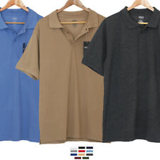 Polo Shirt T Men Pique Classic Golf Work Sport Collar Solid Plain Cotton Tee Lot