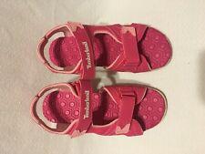 Timberland- Sandalias abiertas con correas ajustable color rosado