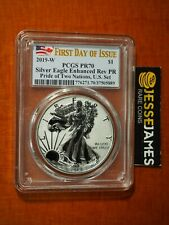 2019 W Enhanced Reverse Proof Silver Eagle Pcgs Pr70 First Day Of Issue Fdi