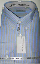 Camicia classica uomo Cool Man manica lunga collo Button down  art 153