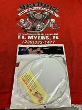 8 Stainless Braided by Barnett Harley-Davidson FXCWC 2008-2011 Throttle Cable