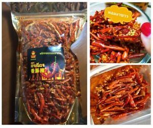Thai snack Crispy Chili peppers Sesame Roasted chilli Burn fat healthy 400 g.