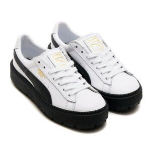 PUMA PLATFORM WOMENS TRACE LEATHER SNEAKERS 366109 AUTHENTIC