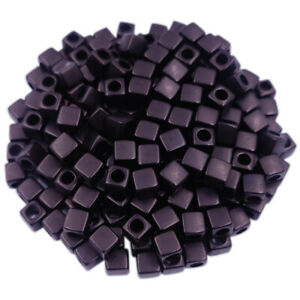 40Pcs 7mm Square Loose Beads DIY Charms For Jewelry Making Pendant Candy Color