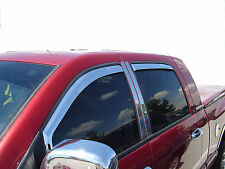 Jeep Grand Cherokee window vent shade visor trim chrome weather rainguard 05-10