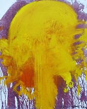"""HERMANN NITSCH """"Motiv 1 - Yellow"""" Hand signed Limited Edition 13/40 on Canvas"""