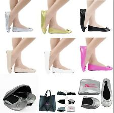 Foldable Ballet Flat Shoes an Expandable Pouch That Turns Into a Shoe Carry Bag Black Foldable Flats Medium 7 to 8