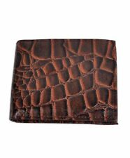 Men's Rocky Sand Fossil Prints Bi-Fold Genuine Leather Wallet with Photo Holder