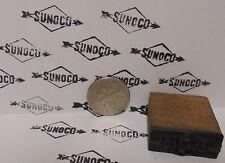 Vintage Sunoco Printing Block Sign Gas Station Motor Oil Display Item