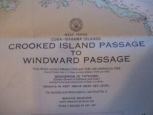 NAVIGATIONAL CHART # 5993 - CROOKED ISLAND PASSAGE TO WINDWARD PASSAGE  1ST ED.