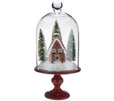 "Illuminated 13"" Holiday Scenes Under Glass w/Mirror Insert by Valerie H205179"