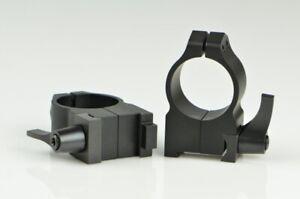 Warne Maxima Scope Rings for CZ 550 1 Inch High Quick Detach Matte 2BLM