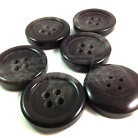 PACK OF 10 34mm WOOD EFFECT PLASTIC FOUR HOLE BUTTON BUTTONS BTN (27803-54)