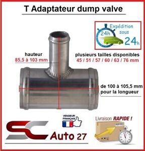 60 mm T adaptateur dump valve en 60 mm de diamètre sortie 25 mm diamètre