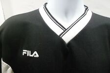 Vintage Fila Made in Italy Black White Soccer Jersey Shirt Size Medium M