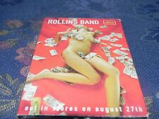 HENRY ROLLINS BAND - NICE PROMO MC - RARE ONLY FOR COLLECTORS! - ANNO 2001