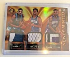 2015-16 Gold Standard Karl Anthony Towns RC Okafor Cauley-Stein NEWLY MINTED /15