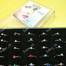 40pcs multicolor Nose rings Nice pierce Crystal new bull ring Wholesale jewelry