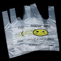 Carry Out Bags Retail Supermarket Grocery Plastic Shopping Thank You Clear Pouch