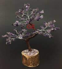 "8"" Amethyst Gem Tree Of Life Gemstone Tree Specimen Feng Shui Gift Set Reiki."