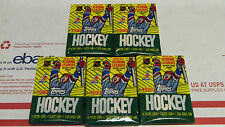 5   PACKS Topps Hockey CARDS 1990-91 Old Unopened LOT Gretzky Hull Roy Lemieux ?