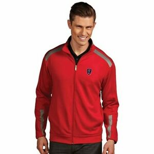 "NEW Antigua Men's Real Salt Lake ""Flight"" Full Zip Jacket - XL Red & Gray"