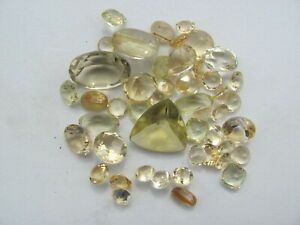 Fantastic  Lot  of faceted Citrine 92 cts!!NICE!!! colors