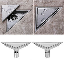 Stainless Steel Invisible Bathroom Floor Drain Chrome Waste Grate Shower Drainer