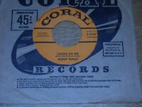 BUDDY HOLLY 45.  LISTEN TO ME  /  I'M GONNA LOVE YOU TOO.  VG++.
