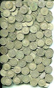 £5 pre 1947 Sixpences x 200, 8.74 troy ounces of pure silver - mixed grades