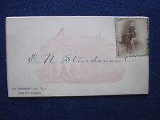"Calling Card, E.N. Sturdevant, 1st Sergeant, Co. ""C"" Greeley Guards"