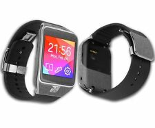 Skinomi Brushed Steel Skin+Clear Screen Protect for Samsung Galaxy Gear 2 Watch