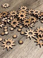 100 Streudeko Holz Tischdeko Bastelzubehör Stern Sternchen Set Weihnachten Xmas