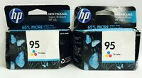 New Genuine 2PK HP 95 TriColor Ink Cartridges Box Exp. 2020 DeskJet 460wf Mobile