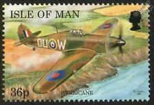 Raf Hawker Hurricane Manx Aircraft Mint Stamp (1997 Isle of Man)