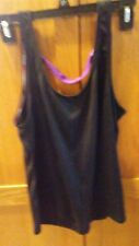 Forever 21 Black Purple Excersice Sport Shirt Loose Back Size M