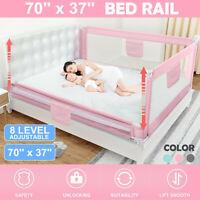1.8M Adjustable Kids Infant Bed Guard Rail Toddler Baby Safety Barrier Protect