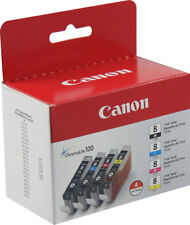 NEW Canon CLI-8 MultiPack B/C/Y/M Ink Set GENUINE