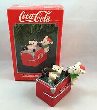 ENESCO 1994 I Can Bear-ly Wait for Coke Coca Cola Polar Bear Christmas Ornament