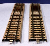 """Marklin HO Scale Lot of 2 Metal Straight 7"""" M Track Sections 5106"""