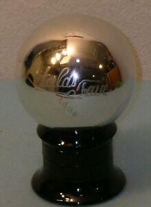 1940 New York World's Fair CHAS ZELLER MERCURY GLASS WITCH BALL Black Amethyst
