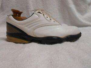 Excellent Condition Men's FootJoy Sport White Leather Golf Shoes Size 12M