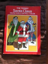 Santa Claus Paper Dolls Book Tom Tierney Stunning Art Unused Dover Usa