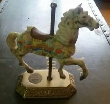 Willitts Carousel Memories Americana Collection White Floral Horse 1573/9500