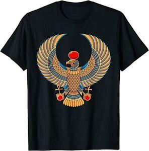 Horus Ancient Egyptian Falcon Hieroglyph Egypt God Mythology T Shirt S-5XL