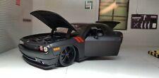 1:24 Model Dodge Challenger 2008 Black Maisto Lowered 32529 Hot Rod Die Cast
