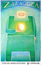 ZARAGOZA FOLON Affiche Litho Coupe du Monde de Foot ESPAGNE1982 MAEGHT TBE